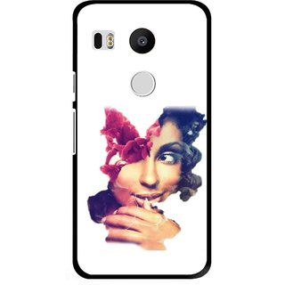 Snooky Printed Vintage Girl Mobile Back Cover For Lg Google Nexus 5X - Multi