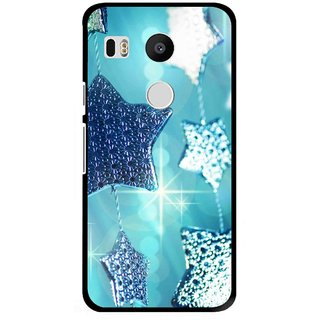 Snooky Printed Sparkling Stars Mobile Back Cover For Lg Google Nexus 5X - Multi
