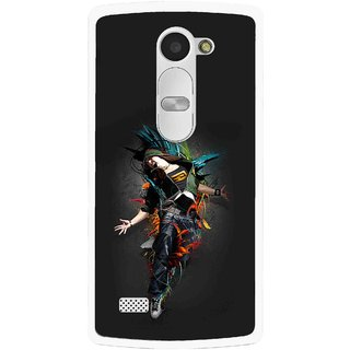 Snooky Printed Music Mania Mobile Back Cover For Lg Leon - Multi