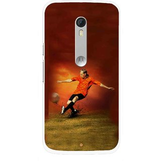 Snooky Printed Football Mania Mobile Back Cover For Motorola Moto X Style - Multi