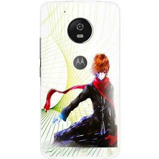 Snooky Printed Stylo Boy Mobile Back Cover For Moto G5 Plus - Multi