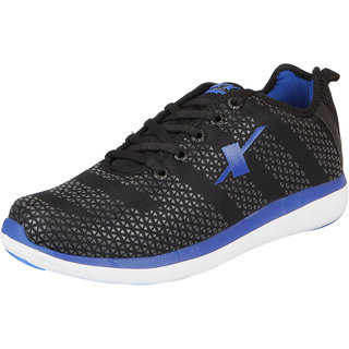 Sparx Mens Black Blue Mesh Running/Walking/Training/Gym Shoes
