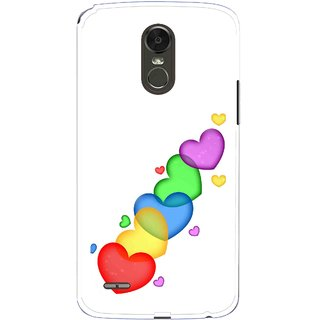 Snooky Printed Colorfull Hearts Mobile Back Cover For Lg Stylus 3 - Multi