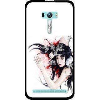 Snooky Printed Sleeping Girl Mobile Back Cover For Asus Zenfone Selfie - Multi