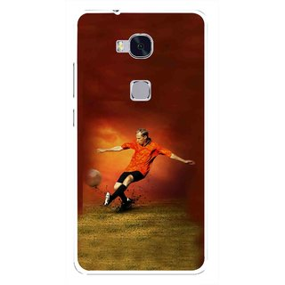 Snooky Printed Football Mania Mobile Back Cover For Huawei Honor 5X - Multi
