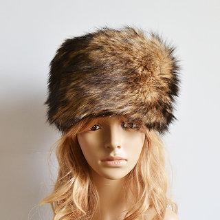 Modo Vivendi Women Faux Rabbit Fur Knitted Cap Women Winter Warm Beanie Hat Ladies Headgear Brown