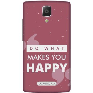 Print Opera Hard Plastic Designer Printed Phone Cover for lenovo a2010 Do what makes you happy