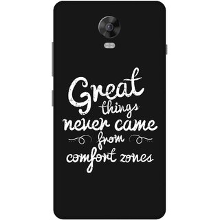 Print Opera Hard Plastic Designer Printed Phone Cover for lenovo vibep1-vibep1turbo Great things never came from comfort zones black background