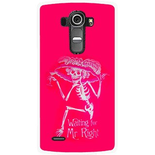 Snooky Printed Mr.Right Mobile Back Cover For Lg G4 - Multi