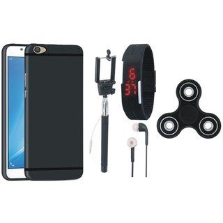 Motorola Moto G4 Cover with Spinner, Selfie Stick, Digtal Watch and Earphones