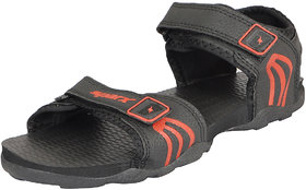 Sparx Men's Black Outdoor Sandals and Floaters
