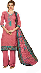 1 Stop Fashion Peach Color Rayon-Modal Dress Material-71450 (Unstitched)