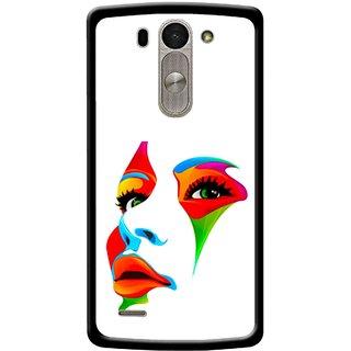 Snooky Printed Modern Girl Mobile Back Cover For Lg G3 Beat D722k - Multi