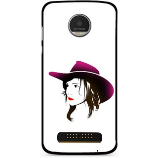 Snooky Printed Tom Boy Mobile Back Cover For Moto Z Play - Multi