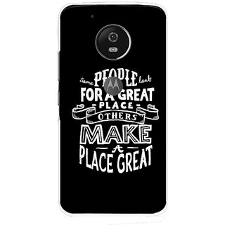 Snooky Printed Personality Attitude Mobile Back Cover For Moto G5 - Multi
