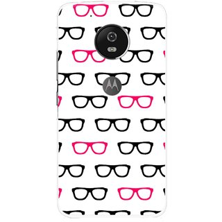 Snooky Printed Spectacles Mobile Back Cover For Moto G5 - Multi