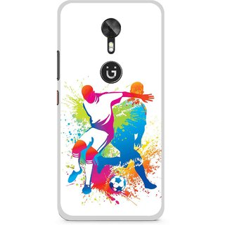 Snooky Printed Footbal Mania Mobile Back Cover For Gionee A1 - Multi