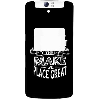 Snooky Printed Personality Attitude Mobile Back Cover For Oppo N1 - Multi