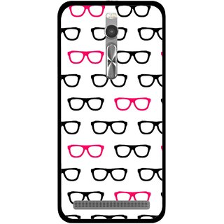 Snooky Printed Spectacles Mobile Back Cover For Asus Zenfone 2 - Multi