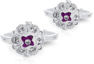 reyansh jewellers round shape toe ring