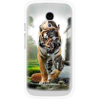 Snooky Printed Mechanical Lion Mobile Back Cover For Moto G2 - Multi