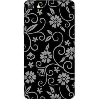 Print Opera Hard Plastic Designer Printed Phone Cover for oppo f3plus-oppo r9splus Artistic pattern grey colour