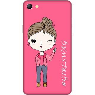Print Opera Hard Plastic Designer Printed Phone Cover for oppo f3plus-oppo r9splus Girls swag pink