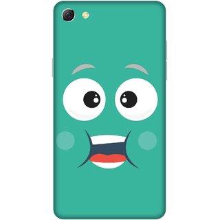 Print Opera Hard Plastic Designer Printed Phone Cover for oppo f3plus-oppo r9splus Smiling face lite green