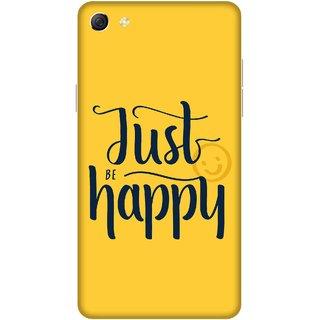Print Opera Hard Plastic Designer Printed Phone Cover for oppo f3plus-oppo r9splus Just happy yellow background