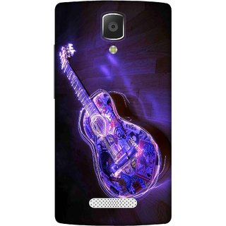 Print Opera Hard Plastic Designer Printed Phone Cover for lenovo a2010 Guitar with glass effect