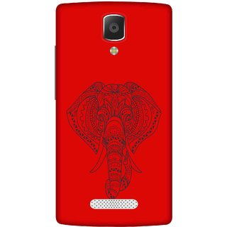 Print Opera Hard Plastic Designer Printed Phone Cover for lenovo a2010 Artistic elephant with red background