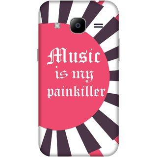 Print Opera Hard Plastic Designer Printed Phone Cover for samsunggalaxy j2 2016 Music is my painkiller