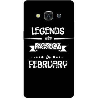 Print Opera Hard Plastic Designer Printed Phone Cover for samsunggalaxy j3pro Legends are born in feb