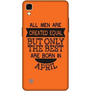 Print Opera Hard Plastic Designer Printed Phone Cover for lg xpower Best man born in April