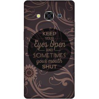 Print Opera Hard Plastic Designer Printed Phone Cover for samsunggalaxy j3pro Eyes open & mouth shut