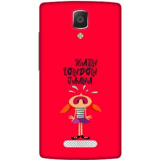 Print Opera Hard Plastic Designer Printed Phone Cover for lenovo a2010 Main london Jana red background