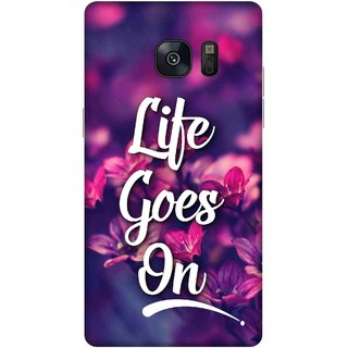 Print Opera Hard Plastic Designer Printed Phone Cover for samsung galaxynote7-note6 Life goes on floral