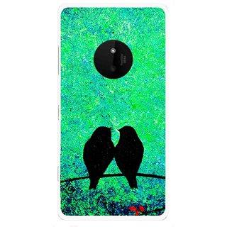 Snooky Printed Love Birds Mobile Back Cover For Microsoft Lumia 830 - Multi