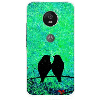 Snooky Printed Love Birds Mobile Back Cover For Moto G5 - Multi