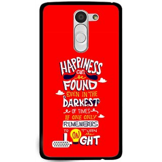 Snooky Printed Happiness Is Every Where Mobile Back Cover For Lg L Fino - Multi