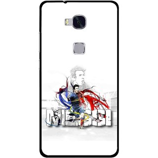 Snooky Printed Messi Mobile Back Cover For Huawei Honor 5X - Multi