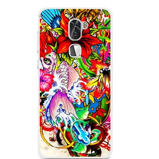 Snooky Printed Horny Flowers Mobile Back Cover For Coolpad Cool 1 - Multi