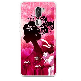 Snooky Printed Pink Lady Mobile Back Cover For Coolpad Cool 1 - Multi