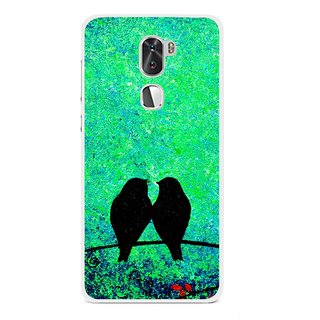 Snooky Printed Love Birds Mobile Back Cover For Coolpad Cool 1 - Multi