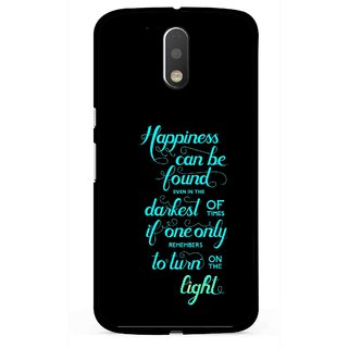 Snooky Printed Everywhere Happiness Mobile Back Cover For Moto G4 Plus - Multi