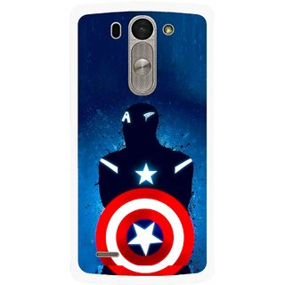 Snooky Printed America Sheild Mobile Back Cover For Lg G3 Beat D722k - Multi