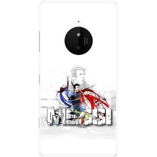 Snooky Printed Messi Mobile Back Cover For Microsoft Lumia 830 - Multi