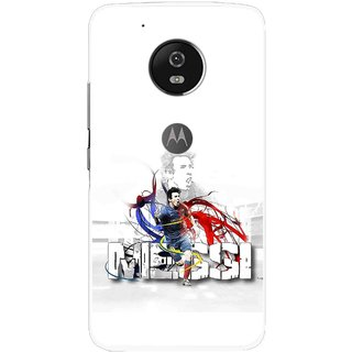 Snooky Printed Messi Mobile Back Cover For Moto G5 - Multi