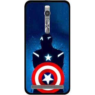 Snooky Printed America Sheild Mobile Back Cover For Asus Zenfone 2 - Multi