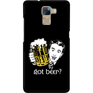 Snooky Printed Got Beer Mobile Back Cover For Huawei Honor 7 - Multi